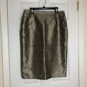Worthington Gold Speckle Pencil Skirt